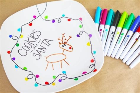 santa cookie plate diy catch  party