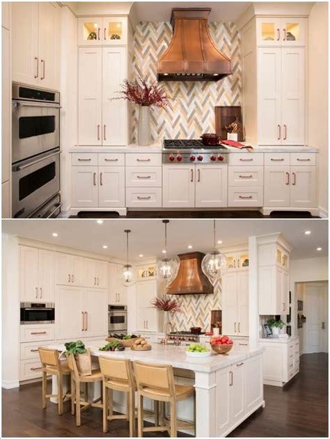 decorate  kitchen  copper accents