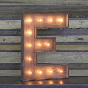 Edison Marquee Letter QuotEquot Town Country Event Rentals