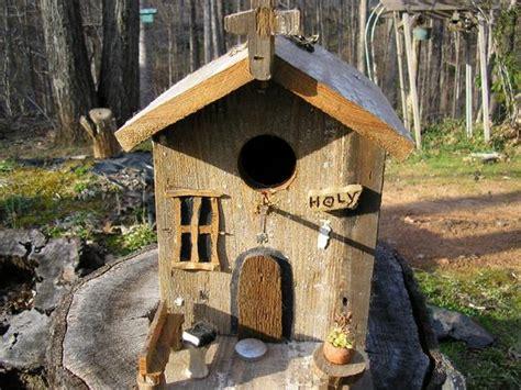 Rustic Church Birdhouse