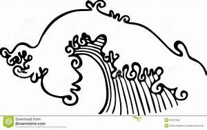Ocean Wave Illustration stock illustration. Image of ...