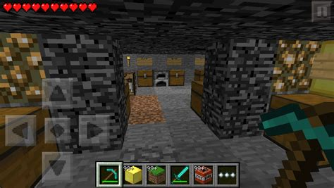 Underground Caves With Chests And Houses