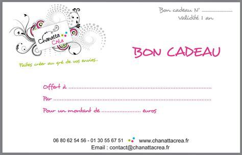 Bon Cadeau  Chanatta Créa