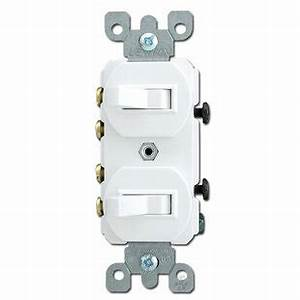 White Duplex Switch With Two 3 Way Toggles