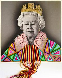Colorfully embroidered vintage photos of artists and for Embroidered vintage photos victoria villasana