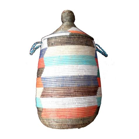 panier a linge africain grand panier thies africain a linge multicolor terang