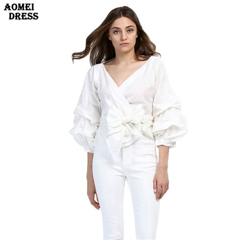 cheap blouses get cheap white ruffle blouse aliexpress com