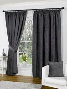 plain chenille pencil pleat readymade curtains