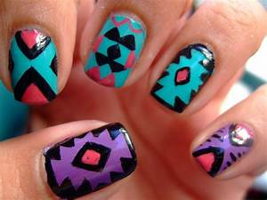 Tribal Print Nail Art Pictures, Photos, and Images for ...