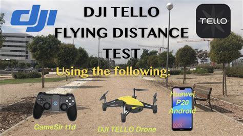 dji tello distance test  android phone   wifi range extender youtube
