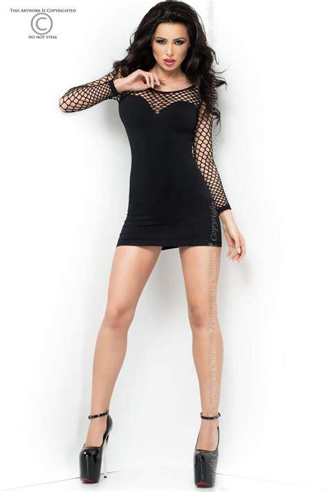 nahtloses minikleid cr schwarz kleider tops