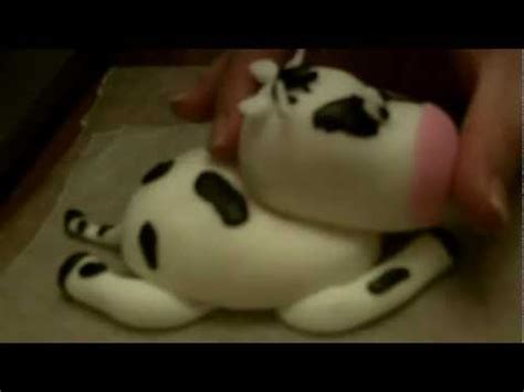 How To Sew Cowhide by How To Make A Fondant Cow Part 2