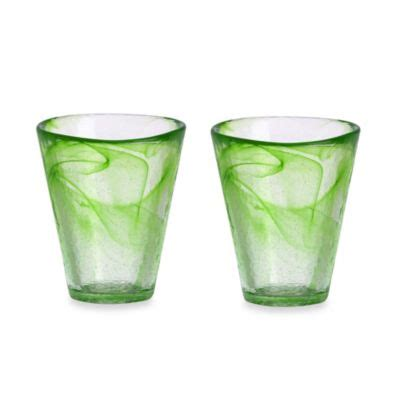 colored glass dinnerware sets kosta boda mine tumblers in lime set of 2