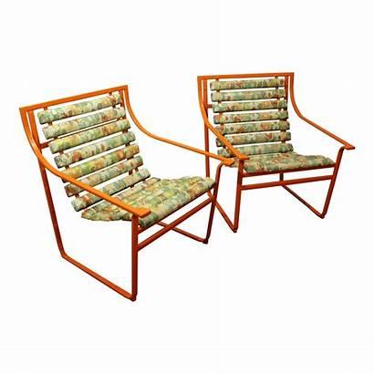Orange Chairs Samsonite Arm Modern Mid Century