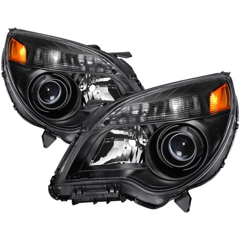 10 13 chevy equinox ltz halogen only wont fit ls lt and hid models oem style headlights black