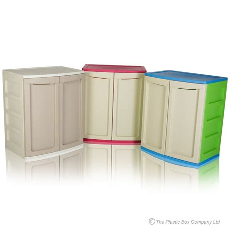Armoire Pvc Rangement Garage by Plastic Cabinet With Shelf And Doors
