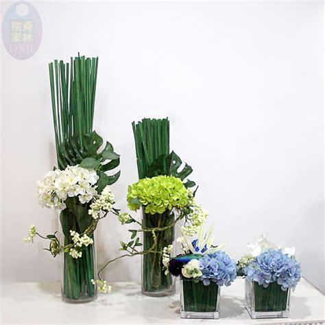 composizione di fiori finti in vasi di vetro composizioni floreali in vasi di vetro alti vs42