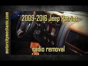 2009-2016 Jeep Patriot Radio Removal