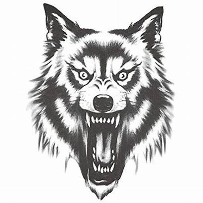 Wolf Face Scary Drawing Clipart Moon Head