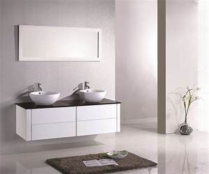 meuble salle de bain design double vasque carrelage With salle de bain design avec meuble salle de bain design pas cher