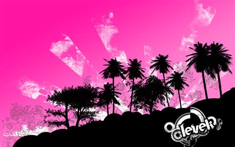 Wallpaper Tropical Pink By Levek On Deviantart