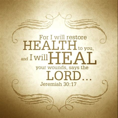 The bible speaks about healing through the work of jesus christ when he would heal the sick and cure the blind. Pin on God Provides