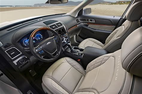 ford explorer 2017 interior 2016 ford explorer platinum first test motor trend