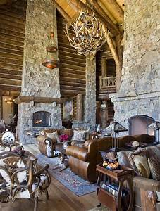 Wyoming, Ranch, Great, Room, Family, Room, Rustic, By, Rinfret, Limited, Interior, Design, U0026, Decoration, L