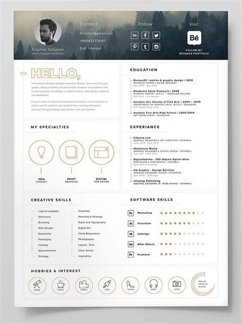 Great Cv Templates Free by 10 Best Free Resume Cv Templates In Ai Indesign Word