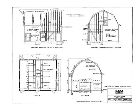 Building Plans For Horse Barns