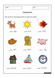 Fill in the Missing Letters Worksheets