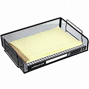 mygift mesh wire stackable document trays office file With black wire mesh stackable letter tray