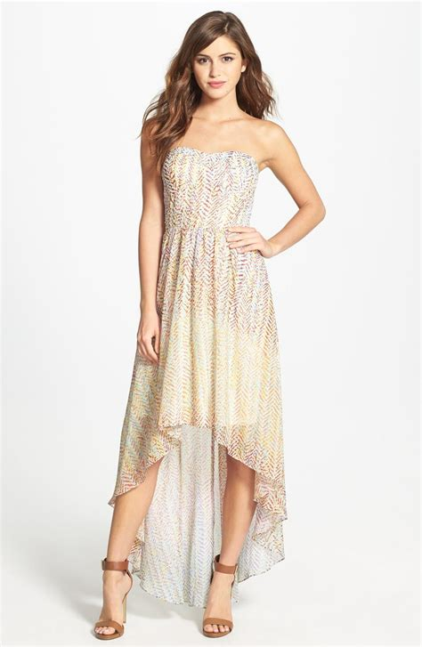 lace fit and flare dress high low chiffon dress dressed up
