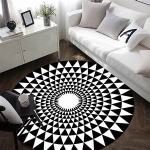 online buy wholesale white round rugs from china white With tapis design noir et blanc