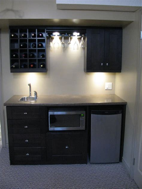 Basement Bar Refrigerator by Bar For Our Basement It Has Wine Storage