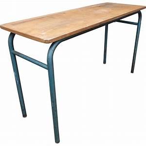 Bureau écolier Vintage : bureau d 39 colier double en bois 1960 design market ~ Nature-et-papiers.com Idées de Décoration