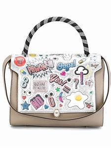 Lyst - Anya Hindmarch 'bathurst' Printed Stickers Tote in Gray
