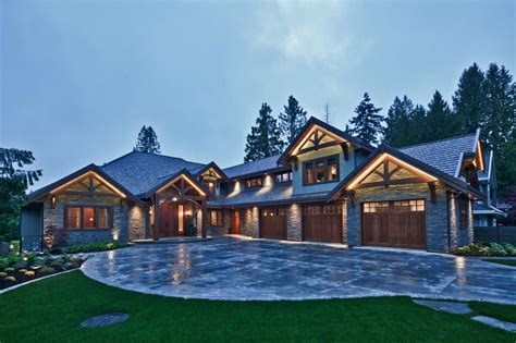 traditional craftsman home featuring materials siding garage doors and driveways