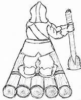 Raft Drawing Log Wood Getdrawings Drawings sketch template