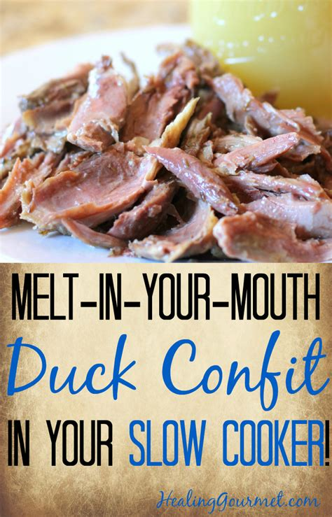 cooker duck confit recipe dishmaps