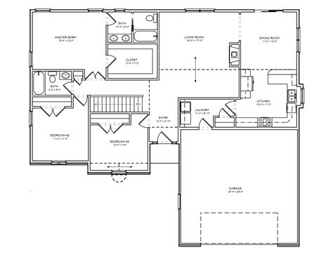 3 bedroom home plans traditional single level house plan d67 1620 the house