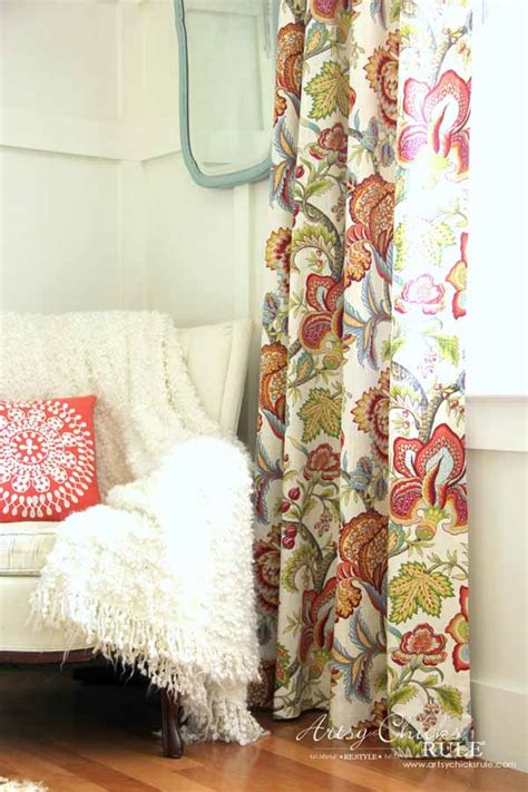 How To Make No Sew Curtains With Grommets  Artsy Chicks Rule®