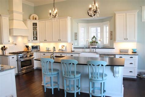 southwest kitchen colors sw copen blue paint kitchen farm house 2410
