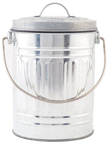 compost bin kitchen pail indoor outdoor countertop food trash fertilizer awardwiki stainless steel 1 gallon compost pail with
