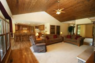 log cabin floor plans with basement knotty pine ceiling the great room knotty pine pine and ceilings