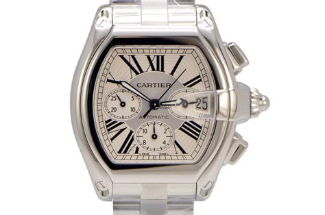 Cartier Roadster XL Chronograph Stainless Steel Silver for