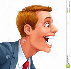 Young Man Excited Happy Smile Vector Head Stock Vector ...