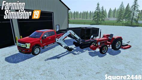 bobcat mini excavator dump trailer  tractor landscaping upgrades farming