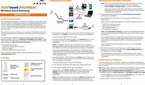 Arris Svg2482ac User Manual Svg2482ac  Quick Start Guide Qsg