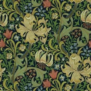 Golden Lily Wallpaper - Indigo (210429) - William Morris